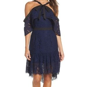 Adelyn Rae Tracy Cold Shoulder Lace Dress